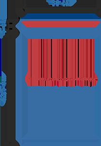 Пакет фасовочный МПП с усиленным скотчем и фальцем МПП 30х42,5+(2х2,5)ф+5(100)ск