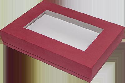 Коробка из гофры с  окном