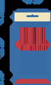 Пакет фасовочный полипропиленовый со скотчем и еврослотом ПП 15х22+4ус.евр+4(30)ск