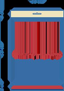 Пакет фасовочный полипропиленовый со скотчем и еврослотом ПП 30х37+4ус.евр+4(30)ск