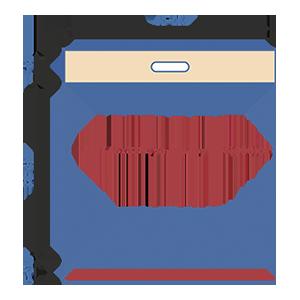 Пакет фасовочный МПП с усиленным скотчем и прорубной ручкой МПП 45х38+7ус.пр.руч+5(100)ск