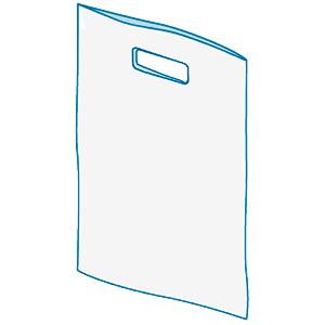 Прозрачные пакеты ПП/PP из полипропилена с клапаном и скотчем для одежды